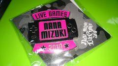 @水樹奈々グッズ 新品未使用 LIVE GAMES2010 ピンズ PINK