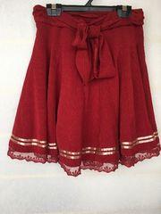 N2m axes femme 裾レース 赤 スカート M アクシーズ好きさんへ