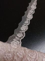 約2.8�p幅×5m・ピンクベージュ(?)系チュールレース