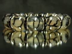 アウトロースタイル!!龍紋石ドラゴンアゲート14ミリ数珠ブレスレット