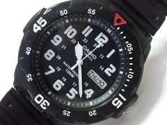 10295/CASIOカシオ100Mダイバー型モデル人気フルブラックデイデイトメンズ腕時計★