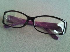 ブラックフレーム紫でオシャレに