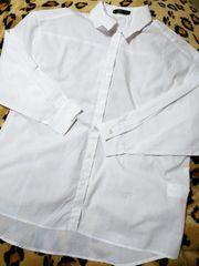 新品 超激カワホワイトカジュアルシャツ(///ω///)♪L