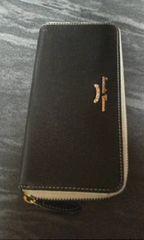 サマンサタバサ黒革製長財布