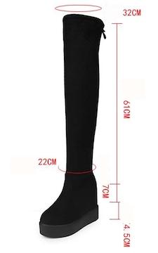 TK220即決 新品 厚底 ブーツ 黒 24cm エスペランサ ダイアナ ピンキー 好きに