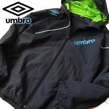超美品 L アンブロ UMBRO メンズ パーカージャケット グレー