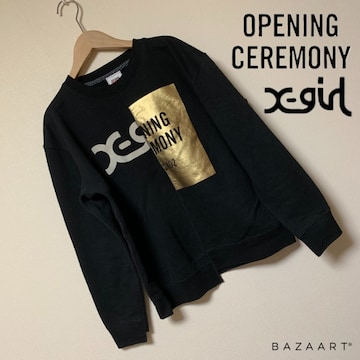 ☆X-girl×opening ceremony ダブルネームスウェット☆