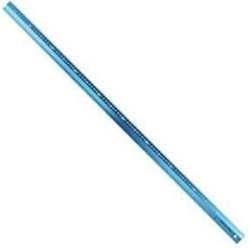 シンワ測定 アルミ直尺 アル助 シャイニングブルー 1m 65442