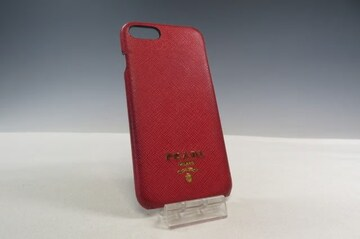 PRADA プラダ レザー iPhone7/8用 スマホカバー レッド