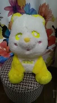 AAA・え〜パンダ・ふさふさBIGぬいぐるみ・黄色だっちん