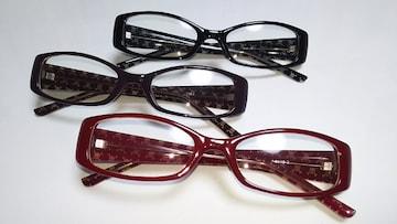 伊達眼鏡 3個セット 赤 茶 黒 送料込み