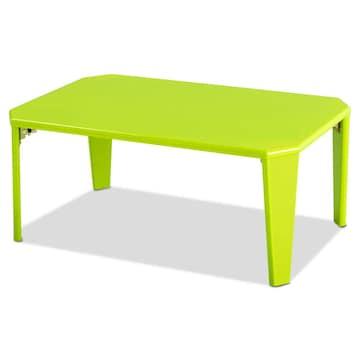 幅75cm 折りたたみ テーブル ローテーブル  グリーン