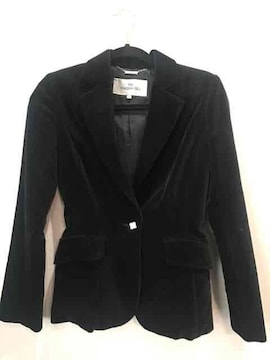 ビアッジョブルー☆ベロアジャケットサイズ1☆黒色