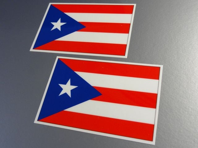 ■プエルトリコ国旗ステッカー2枚セット■スーツケースなどに < 自動車/バイク