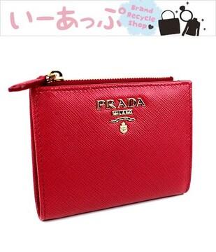 プラダ 二つ折り財布 ミニ財布 カード入れ カードケース コインケース k87