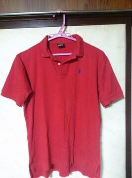 ポロラルフローレン ポロシャツ赤 サイズL 中古