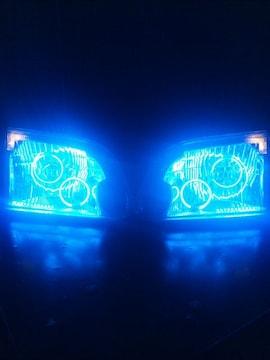 新品!100系ハイエースワゴン!!イカリング+LEDヘッドライト!!