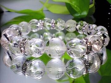 五ポイント龍トルネ-ド彫りクリスタル高級水晶12ミリ数珠