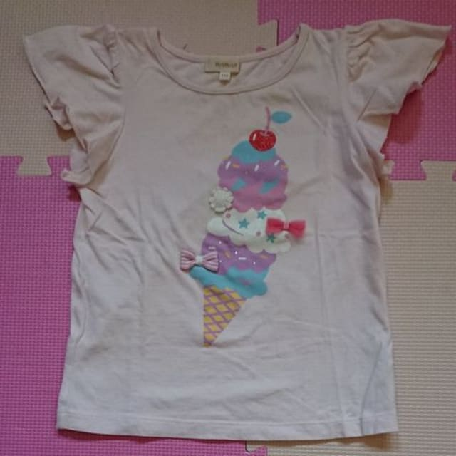 HUSHUSH☆アイスクリーム柄のTシャツ☆size110  < ブランドの