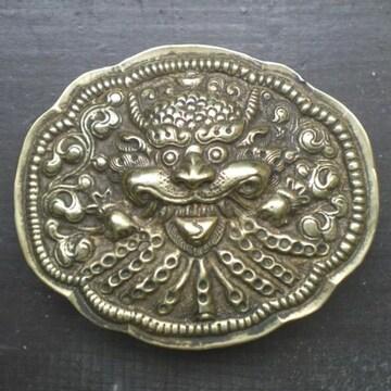 真鍮・銅製 バックル*キールティムルカ*1  ベルト金具
