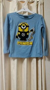 ミニオン長袖トップスTシャツ130cm