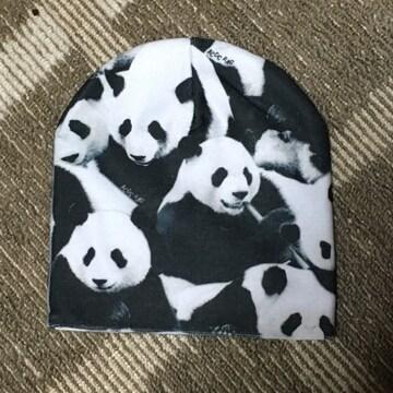 ACDCRAG・ロゴ&パンダ柄ビーニー帽子