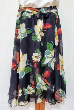 ♪新品♪花柄スカート♪裏地ショートパンツ付き♪ゆったりM-L