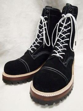 送料込み 新品 ブローグマスターブーツ 黒 28〜28.5cm