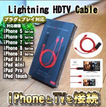 iPhone iPad HDMI 変換アダプタ 高解像度 ケーブル【箱入】黒