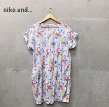 【niko and...】花柄ワンピース ニコアンド