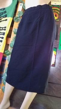 冠婚葬祭/礼服 スリット入スカート★大きいサイズW67W70W73