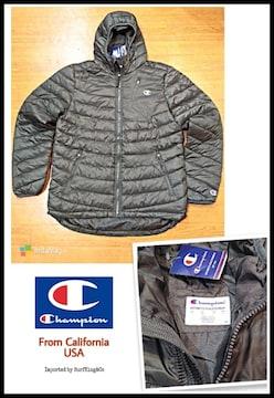 CHAMPION中綿キルティングフーディジャケット本物USAモデル特価!