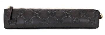 美品正規グッチペンケース256579グッチシマGG柄レザー筆