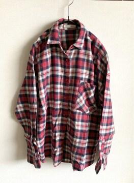 美品◇moussyマウジー◇チェックシャツ ◇ネルシャツ