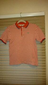 ラコステ☆ボーダー半袖ポロシャツ♪サイズ12☆神戸大丸購入