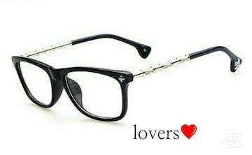 送料無料クロムゴールド黒クロス十字架フレーム眼鏡メガネめがね