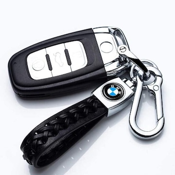 車のロゴキーホルダー本革BMW用、 耐久性のあるエレ
