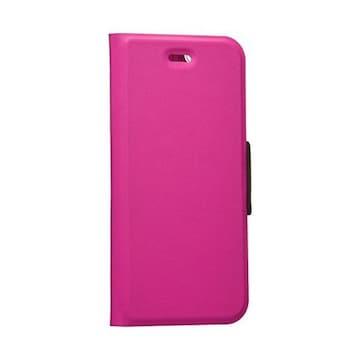 ☆ELECOM iPhone6s/6 レザーケース マグネット式 ビビッドピンク