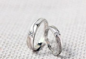 リング アクセサリー ペアセット カップルの指輪