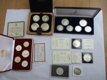 オリンピック大型銀貨を含む記念銀貨いろいろ その6