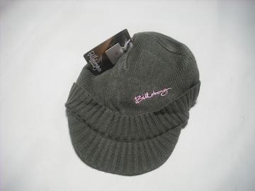 wb348 女 BILLABONG ビラボン つば付き ニット帽 ビーニー