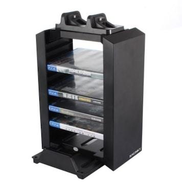 PS4多機能縦置きスタンド 12枚ソフト収納