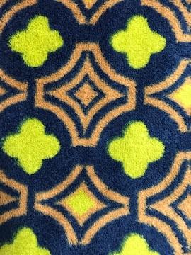 豊天商店 ふわふわ ループ付き マフラー モノグラム グリーン ハンガー フリース
