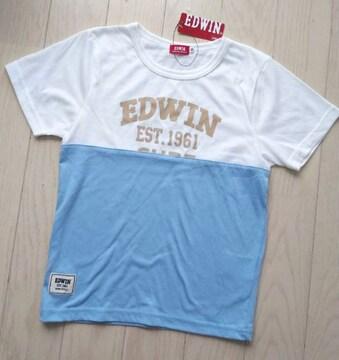 130★EDWIN★バイカラー半袖Tシャツ★新品