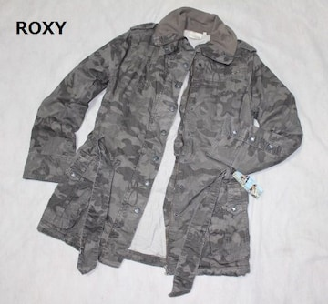 ロキシー*ROXY★迷彩柄*中綿ジャケットコート(Lサイズ)新品