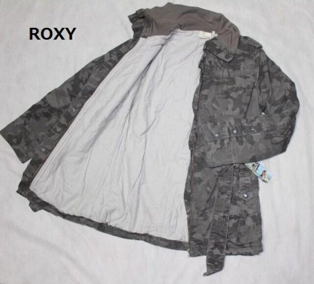 ロキシー*ROXY★迷彩柄*中綿ジャケットコート(Lサイズ)新品 < ブランドの