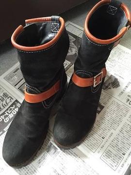 ブリューテンブラット ブーツ 黒 9インチ
