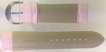 Ounier社製 牛革時計バンド ピンク 22mm