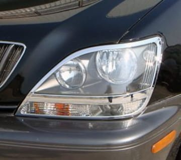 トヨタ メッキヘッドライトリング 旧ハリアー 1#系 RX300