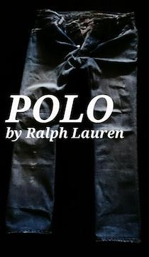 【POLO】ラルフローレン Vintage Bootcut デストロイジーンズ 36/M.Wash